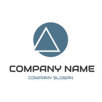 Abstract Element with Triangle and Circle Logo Design