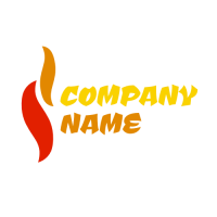 Abstract Tongues of Flame Logo Design