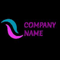 Abstract Wavy Multicolored Lines Logo Design