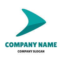 Abstract Logo | Boomerang Arrow with Shadow