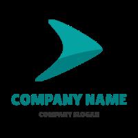 Boomerang Arrow with Shadow Logo Design