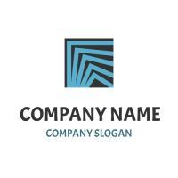 Broken Lines Inside a Square Logo Design