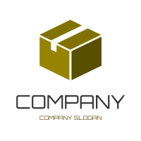 Brown Box with Packing Tape Logo Design
