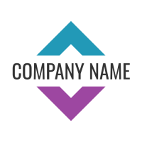 Abstract Logo | Business Name Divides a Square