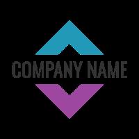 Business Name Divides a Square Logo Design