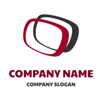 Combination of Two Closed Contours Logo Design