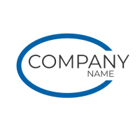 Company Name Embedded in the Oval Logo Design