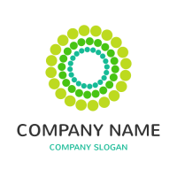 Dots Grouped Into Nested Circles Logo Design