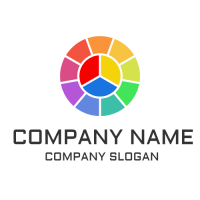 Multicolored Segmented Circle Logo Design