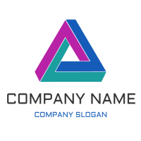 Mysterious Triangular Object Logo Design