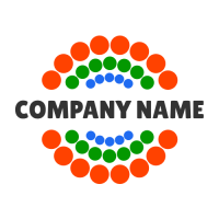 Name Through Group of Points Logo Design