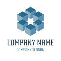 Six Cubes Arranged in a Circle Logo Design