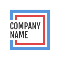 Abstract Logo | Two Nested Frames and Company Name