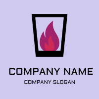 Strong Fire Alcohol Inside the Glass Logo Design