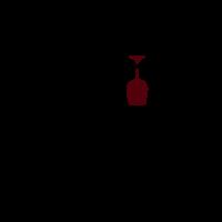 Three Glasses on Wine Hanging Logo Design