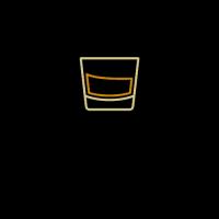 Whiskey Glass in Black Circle Logo Design