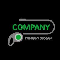 Long Green Dog Leash for Walking Logo Design
