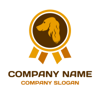 Orange Dog Training Award Logo Design