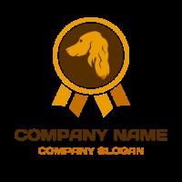 Orange Dog Training Award Logo Design