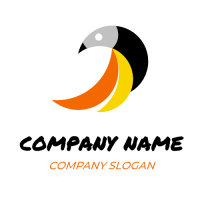 Tropical Orange and Yellow Bird Logo Design