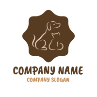 Two Animal Silhouettes Logo Logo Design