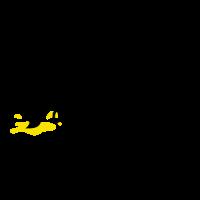 Vertical Brush with Paint Spot Logo Design