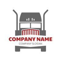 Big Truck Divided by Company Name Logo Design