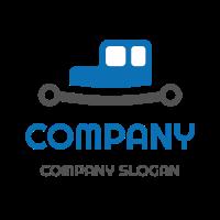 Blue Car Body Above the Spring Logo Design