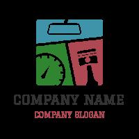 Car Emblem with Three Segments Logo Design