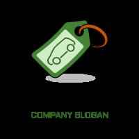 Car Keychain with a Shadow Logo Design
