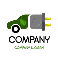 Electric Eco Friendly Vehicle Logo Design