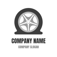 Flat Tire Icon for Car Service Logo Design