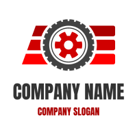 Automotive & Vehicle Logo | Wheel in Front of Three Lines
