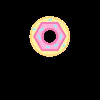 Donut with Pink Glaze and Sprinkles Logo Design