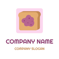 French Toast with Blueberry Jam Logo Design