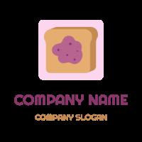 French Toast with Blueberry Jam Logo Design