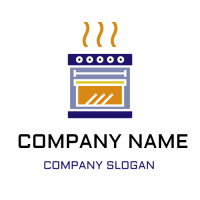 Hot Oven for Premium Cooking Logo Design