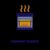 Hot Oven for Premium Cooking Logo Design