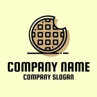 Bakery Logo | Modern Waffle Silhouette
