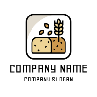Natural Homemade Bread Logo Design