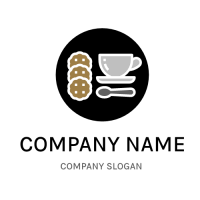 One Cup and Three Biscuits Logo Design