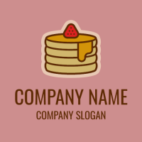 Pancakes with Maple Syrup Logo Design