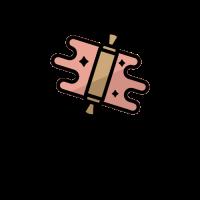 Rolling Pin and Pink Fondant Logo Design