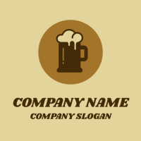 Brown Ale Mug with a Foam Logo Design