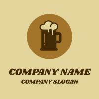 Brown Ale Mug with a Foam Logo Design