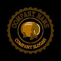 Brown Emblem with Beer Barrel Logo Design