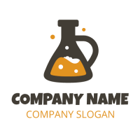 Lab Glass with High Quality Malt Logo Design