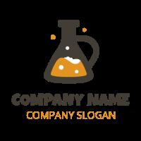 Lab Glass with High Quality Malt Logo Design