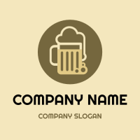Beer Logo | Minimalist Beer Mug with Foam