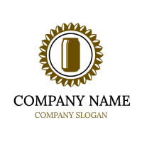 Vintage Brown Lager Pint Emblem Logo Design